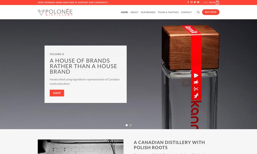 a screenshot of the polonee.ca homepage