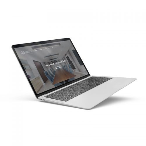 Soppelsa Architect Inc. website showed in a laptop