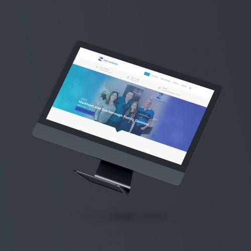 Computer Screen showing Zelsman Dental home page